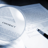 close up image of legal contract